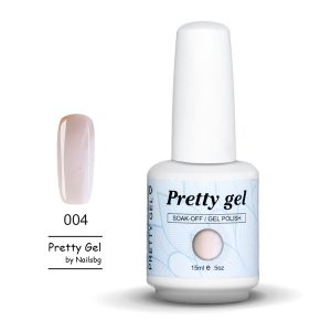 Pretty Gel 004 -Млечно бледо лилаво 15 мл.