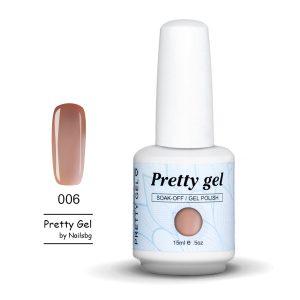 Pretty Gel 006-Млечно сиво 15мл.