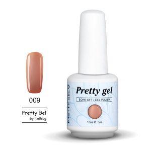Pretty Gel 009-Бледа керемида цвят -15 мл.