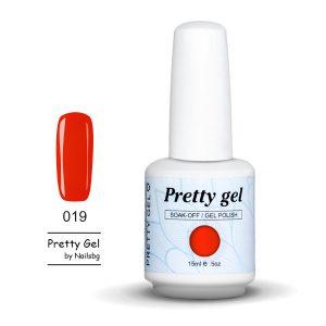 Pretty Gel 019 Червено 15 мл.