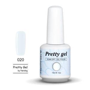 Pretty Gel 020-Бял 15 мл.