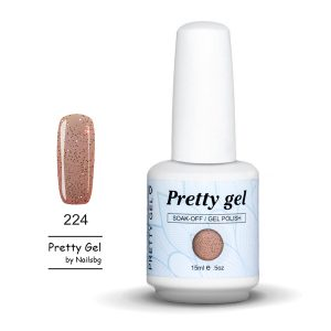 gel-lak-pretty-gel-224-candy-glitter-nail