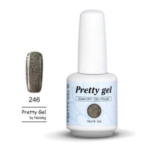 gel-lak-pretty-gel-246-zlatno-siten-brokat-nail