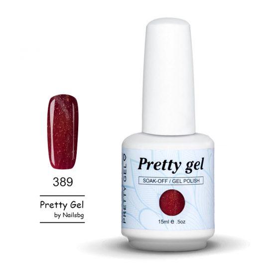 gel-lak-pretty-gel-389-tamno-rozov-siten-brokat-nail