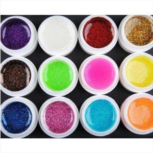 Цветни гелове ситен брокат