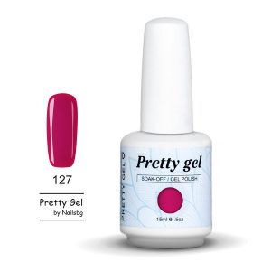 gel-lak-pretty-gel-127-tamno-rozovo-nail