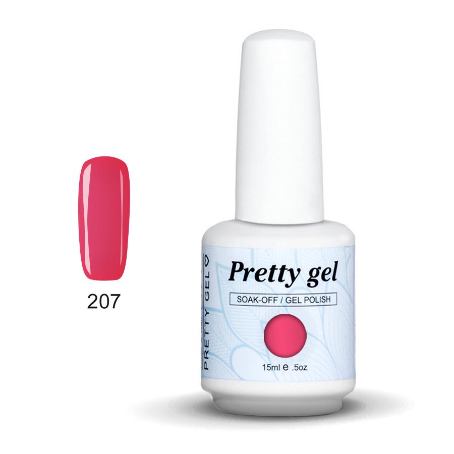 Pretty Gel 207 - Тъмно розов 15 мл.