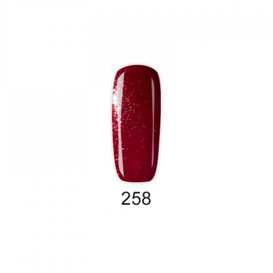 Pretty Gel 258 – Бордо Ситен Брокат
