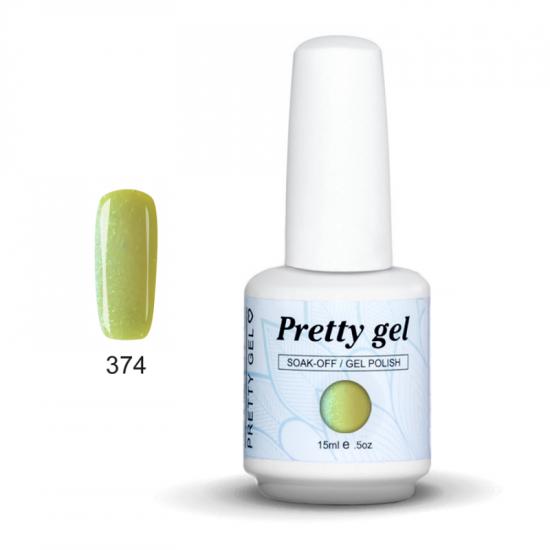Pretty Gel 374 – Лимонада със Светли Частици