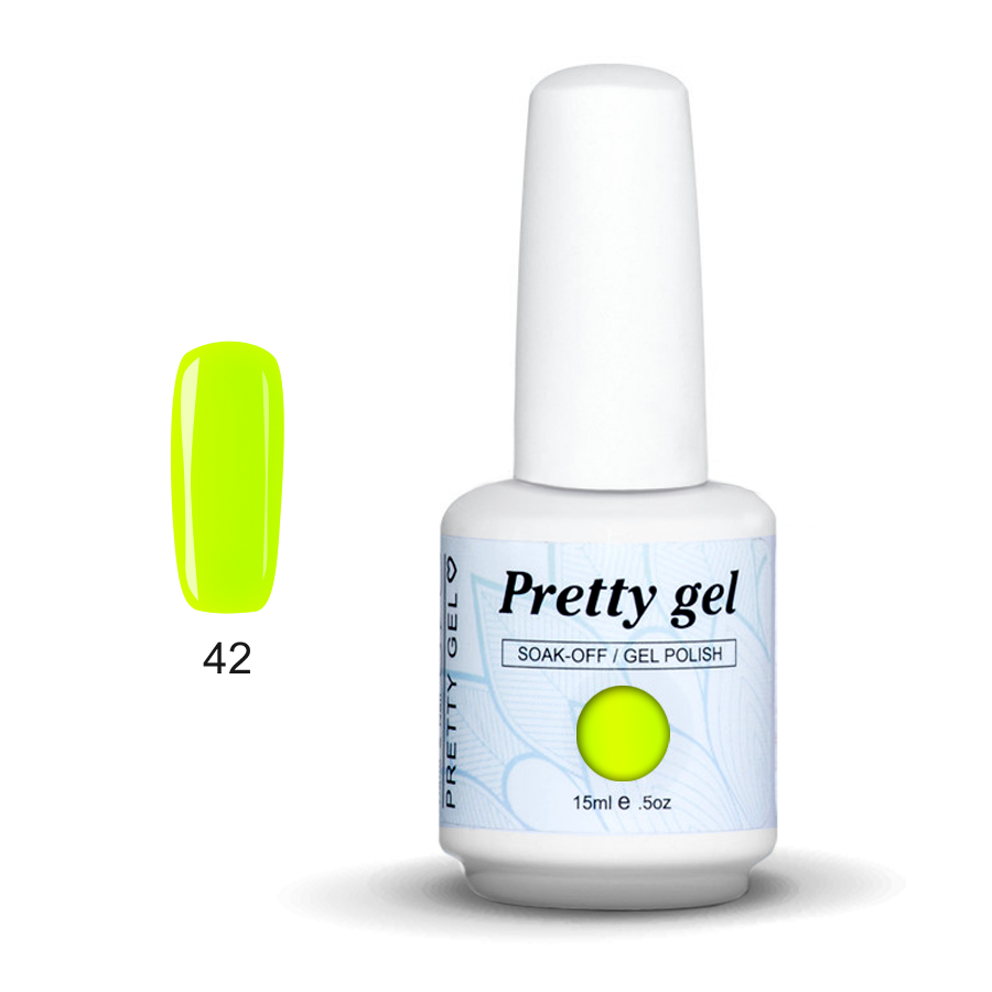 Pretty Gel 42 - Парти неон 15 мл.