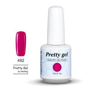 gel-lak-pretty-gel-492-malinovo-cherveno-nail