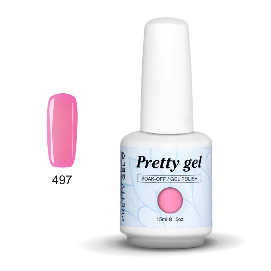 Pretty Gel 497 - Розов бонбон 15 мл.
