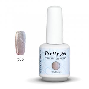 Pretty Gel 506 – Бледо Розов със Сребърни Частици 15 мл.