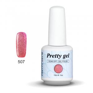 Pretty Gel 507 – Розов с Хамелеонови и Розови Частици 15 мл.