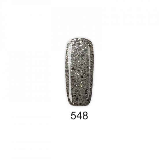 Pretty Gel 548 – Стилен и Едър Сребърен Брокат 15 мл.