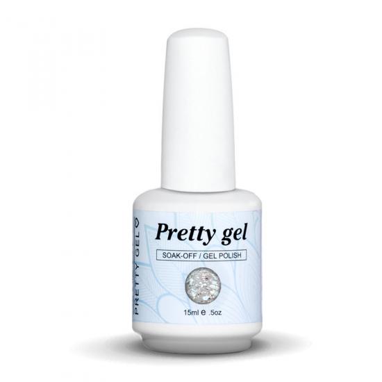 gel-lak-pretty-gel-549-praznichen-srebaren-brokat-nail