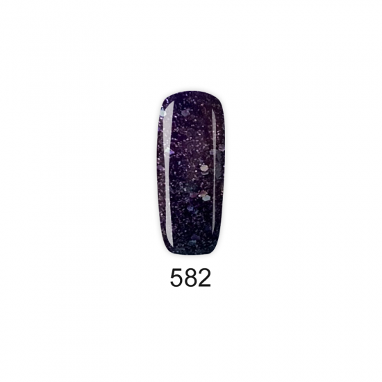 Pretty Gel 582 - Лилав с частици 15 мл.