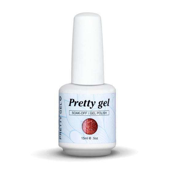 Pretty Gel 585 - Светло червен с частици 15 мл.