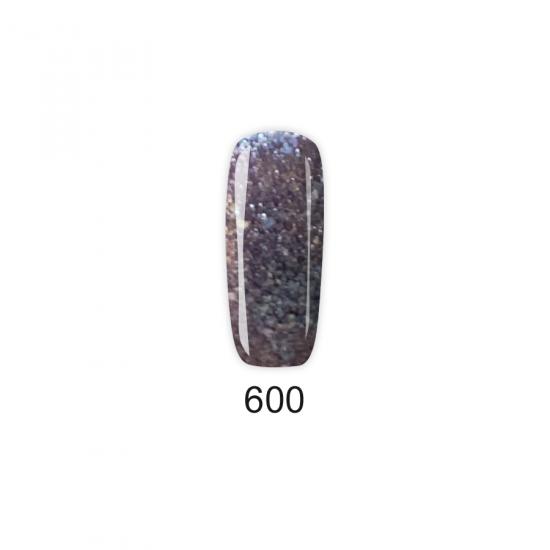 Pretty Gel 600 - Брокатена боровинка 15 мл.
