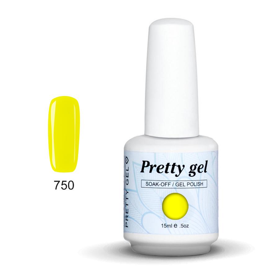 Pretty Gel 750 - Лятно жълто 15 мл.