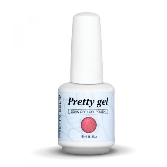 Pretty Gel 822 - Розов с частици 15 мл.