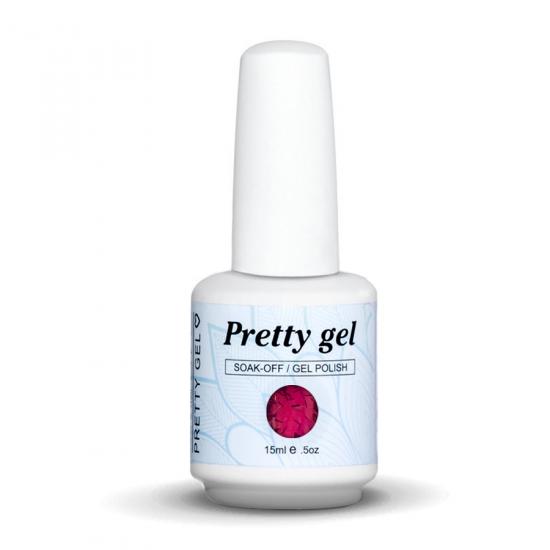 Pretty Gel 833 - Лилав с елементи фолио 15 мл.