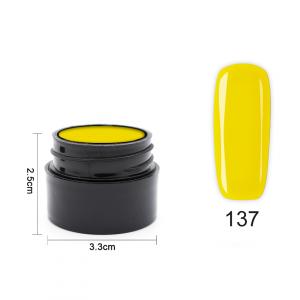 Цветен UV/LED гел Pretty 5 гр. – 137 Патешко жълто