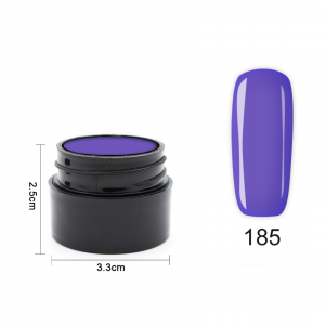 Цветен UV/LED гел Pretty 5 гр. – 185 Тъмно лилаво