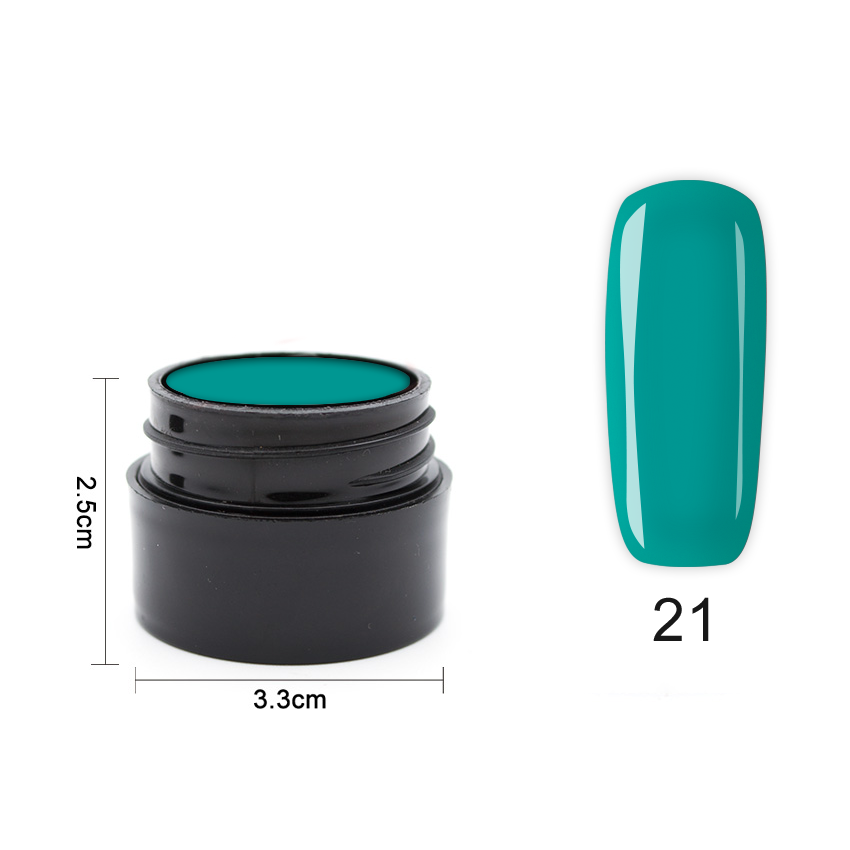 Цветен UV/LED гел Pretty 5 гр. – 21 Тъмна мента