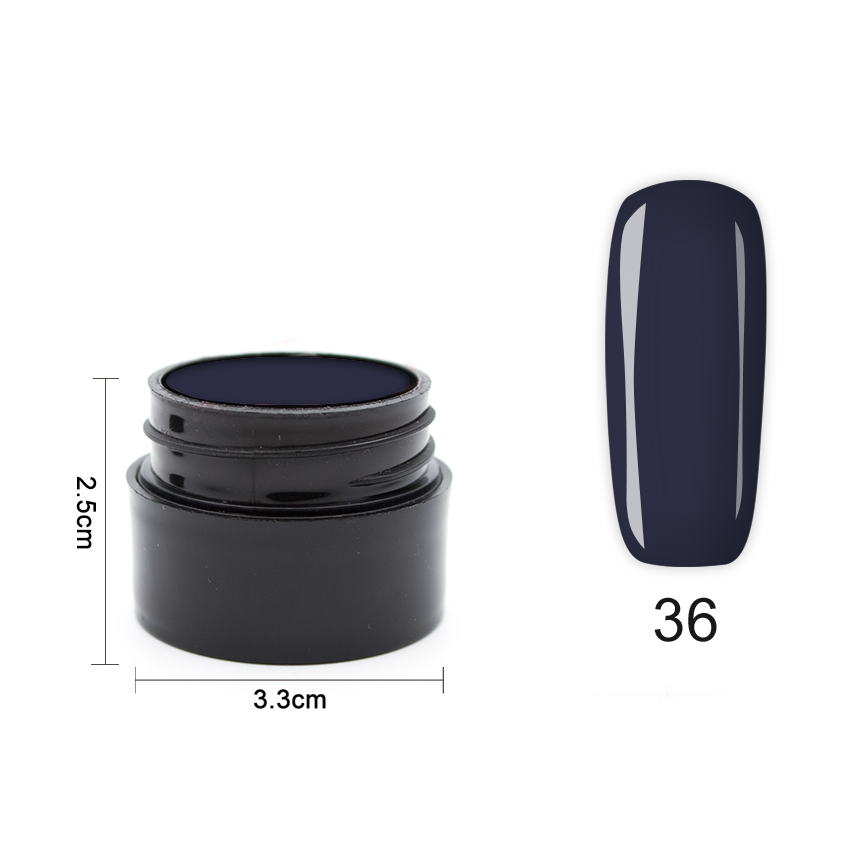 Цветен UV/LED гел Pretty 5 гр. – 36 Мастилено синьо