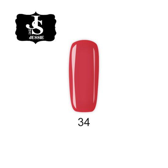 Jessie гел лак 034 - Червена Роза 8 мл.