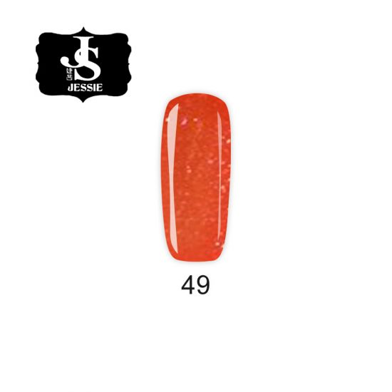 Jessie гел лак 049 - Оранжев Фин Брокат 8 мл.