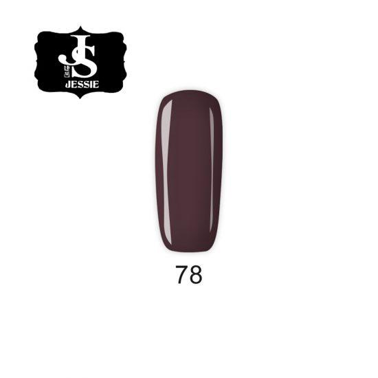 Jessie гел лак 078 - Шоколадово кафяво 8 мл.